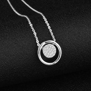 Jewelry - Silver Plated Double Circle Necklace